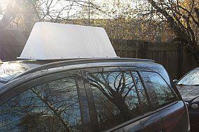 Короб световой рекламный на крышу автомобиля